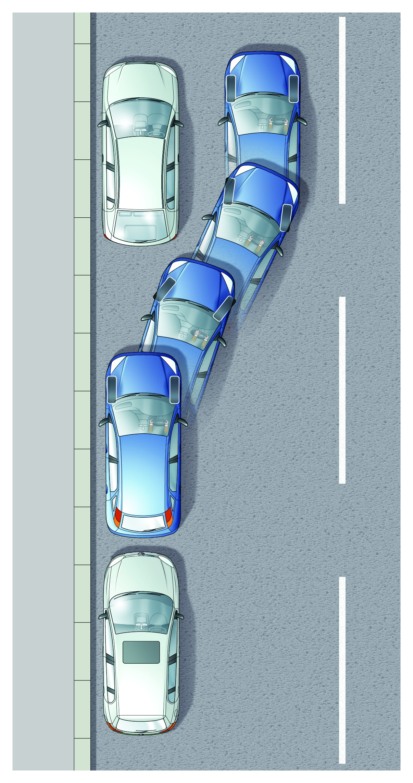 jak parkować równolegle tyłem